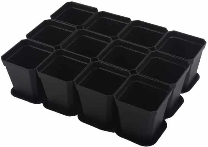 BangQiao 2.70 Inch Plastic Square Seedling Pots