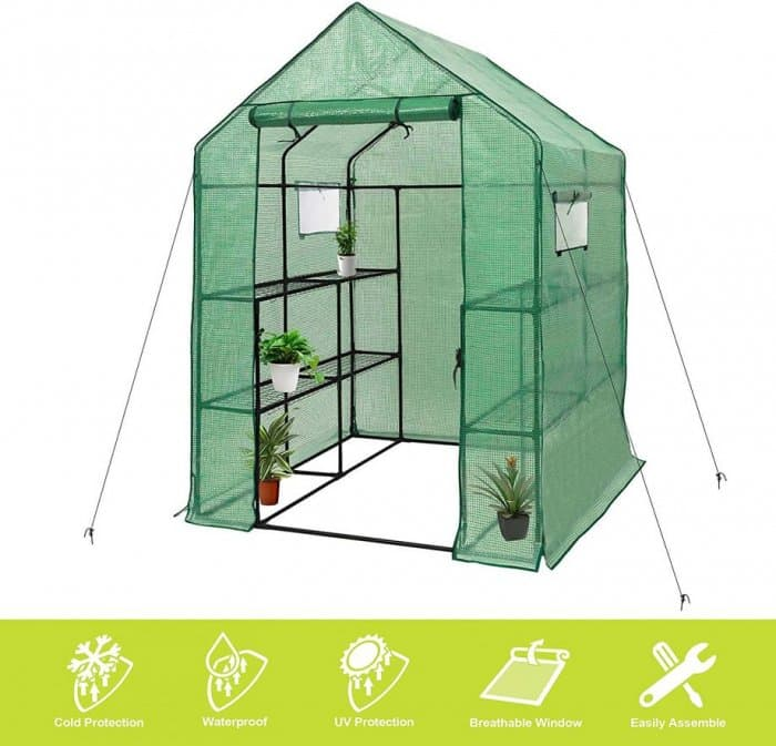 """Deluxe Green House 56"""" W x 56"""" D x 77"""" H, by Gosunny"""