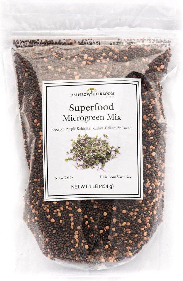 Superfood Microgreen Seeds Mix by Rainbow Heirloom Seed Co.