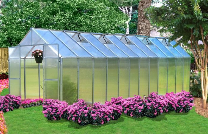 Monticello Greenhouse Premium Package, 8' x 24'