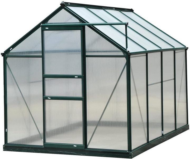 Outsunny 6' x 8' x 7' Polycarbonate Portable Walk-in Garden