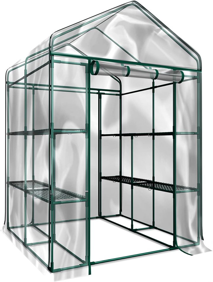 HC-4202 Walk-in Indoor Outdoor Greenhouse Kit by Home-Complete
