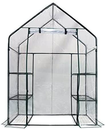 """Walk-In Greenhouse 3 Tiers 56"""" W x 29"""" D x 77"""" by Homewell"""