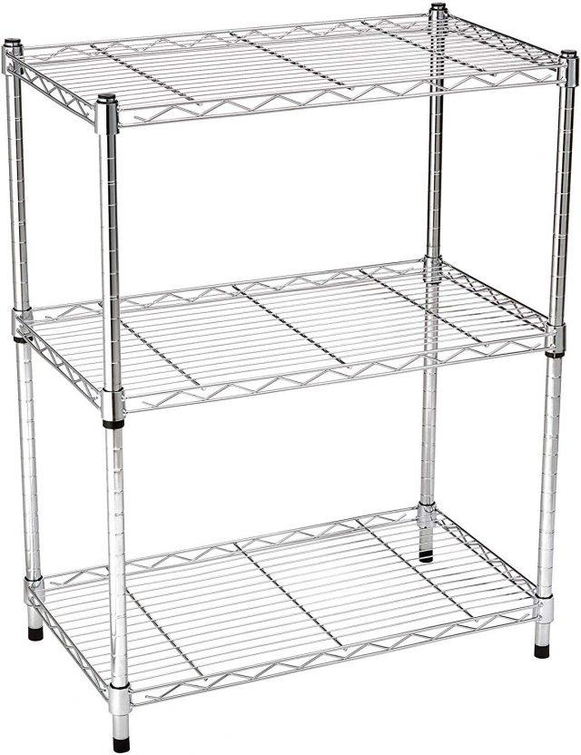 Amazon Basics 3-Shelf Adjustable, Heavy Duty Storage