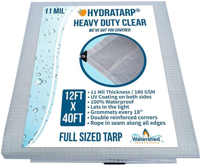 Watershed Innovations Clear Greenhouse Tarp