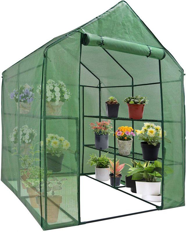 Mini Walk-in Ridge and Furrow Greenhouse