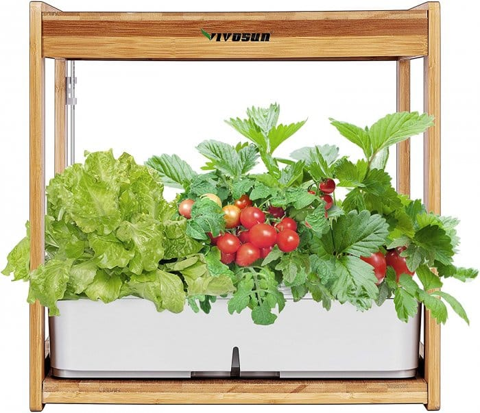 VIVOSUN Hydroponics indoor greenhouse with lights