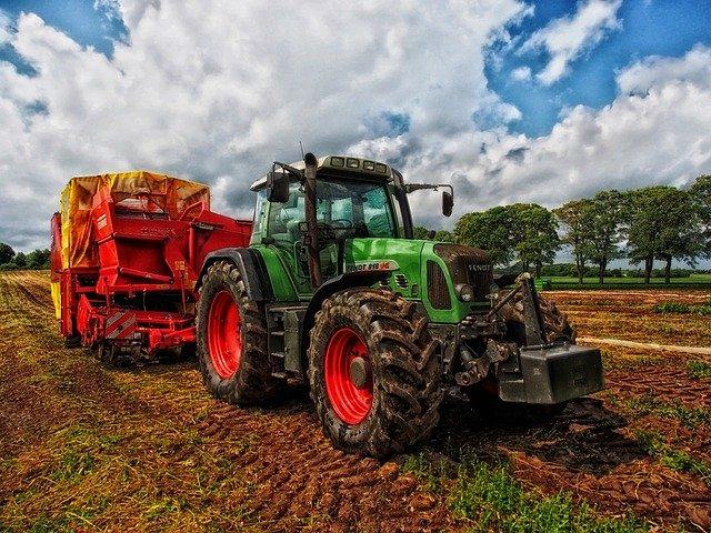 broken down tractor